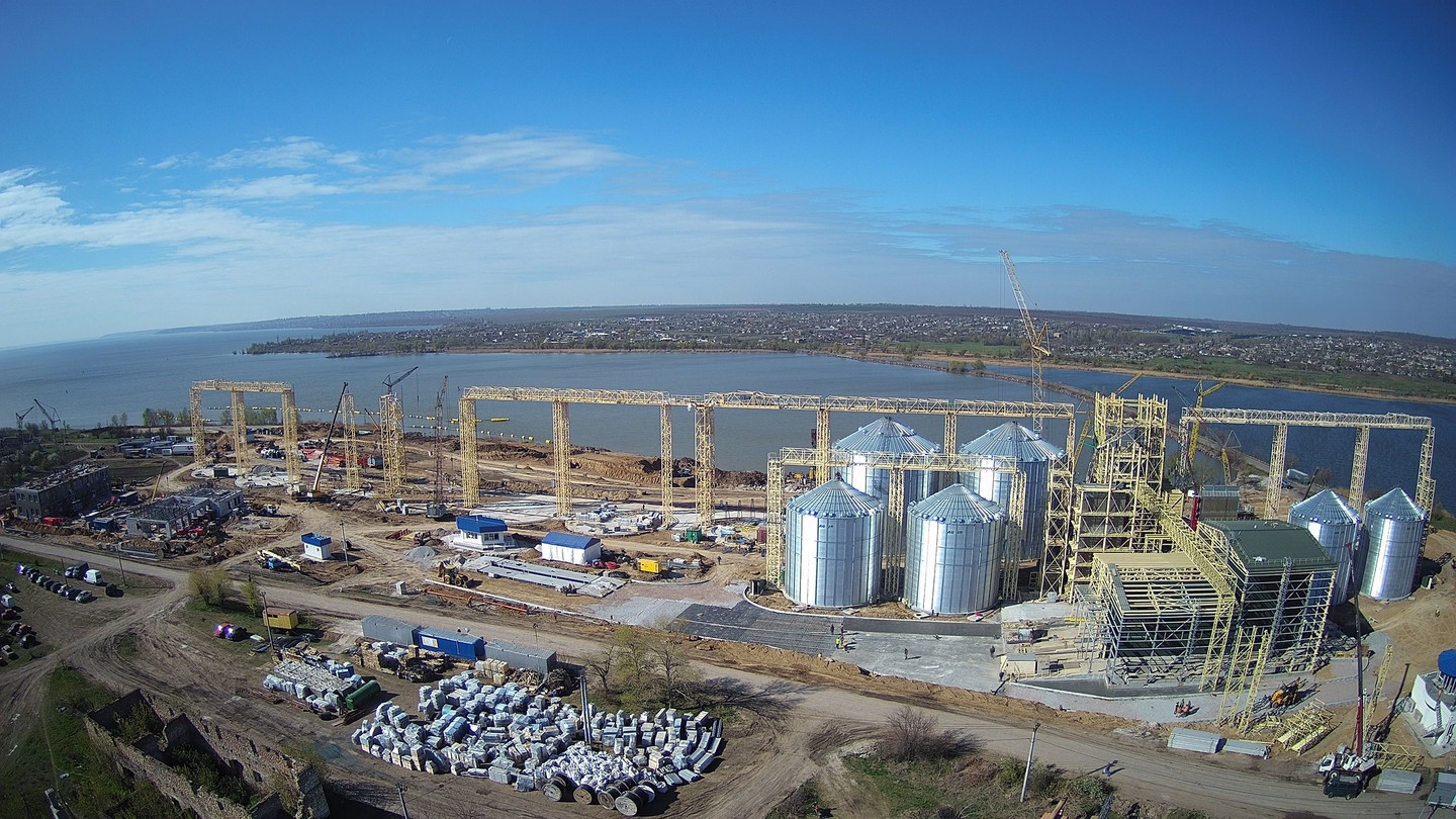 All Works to Construct NIBULON's New Transshipment Terminal in Marianske (Dnipropetrovsk region) Go according to Plan