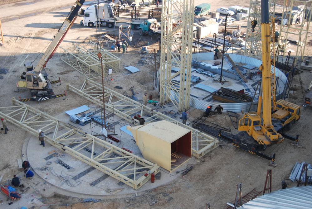 Спорудження фундаментів силосів та збирання зерносховищ