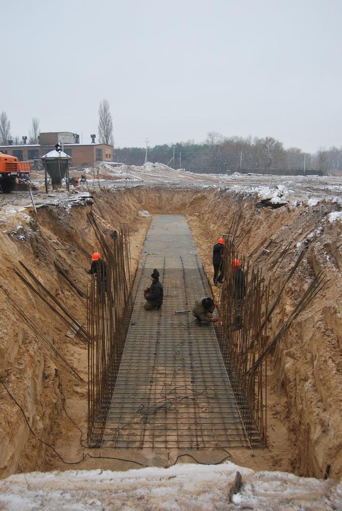 Розпочато будівництво фундаментів 4-х зерносховищ з активним вентилюванням