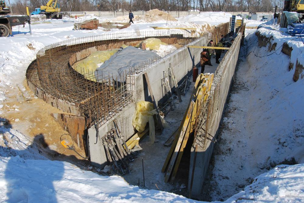 Будівництво фундаментів зерносховищ