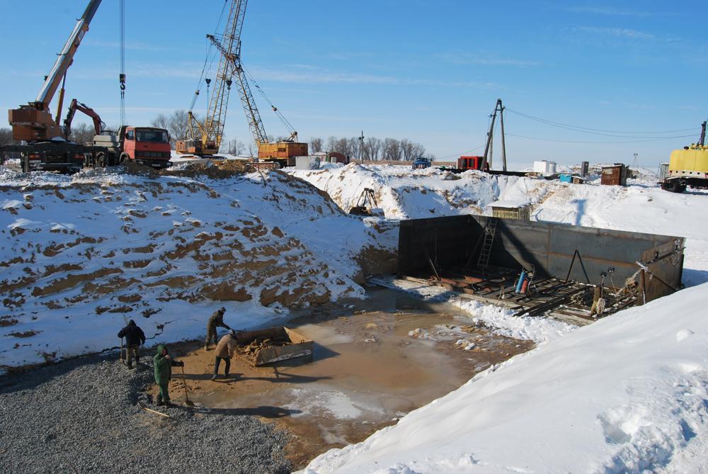 Розпочато будівництво фундаменту норійної башти (ЗАТ БК «Житлобуд-НІКО»)