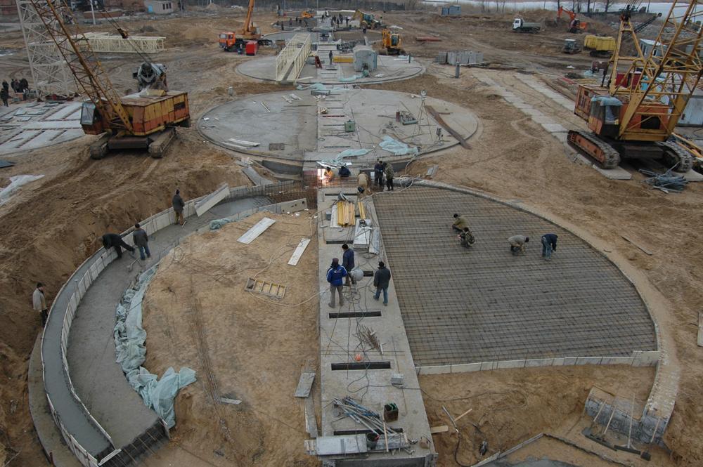 Будівництво фундаментів під силоси