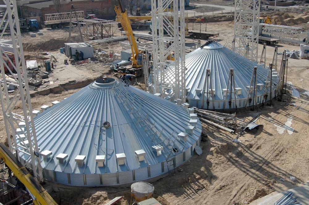 Монтаж металоконструкцій силосів