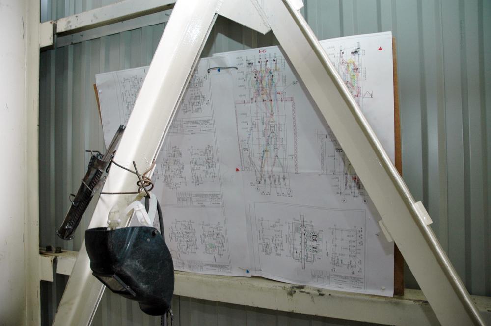 Зведення норійної башти та потоково-транспортної системи. Монтаж обладнання