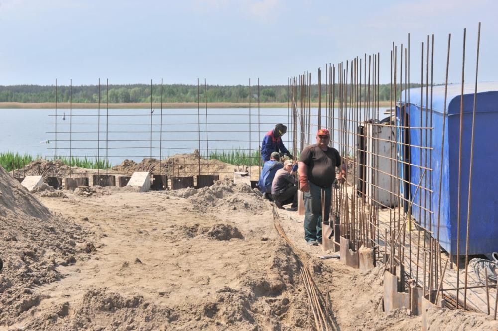 Будівництво причалу