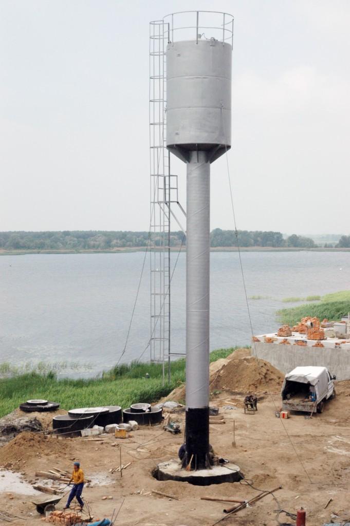 Монтаж водонапірної башти