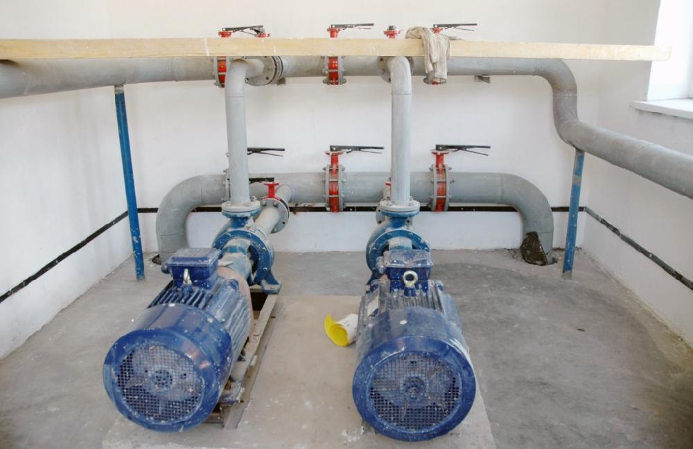Насосна підстанція та пожежний резервуар