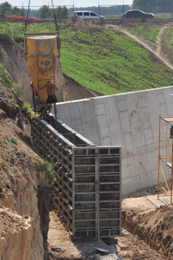 Будівництво підпірних стінок