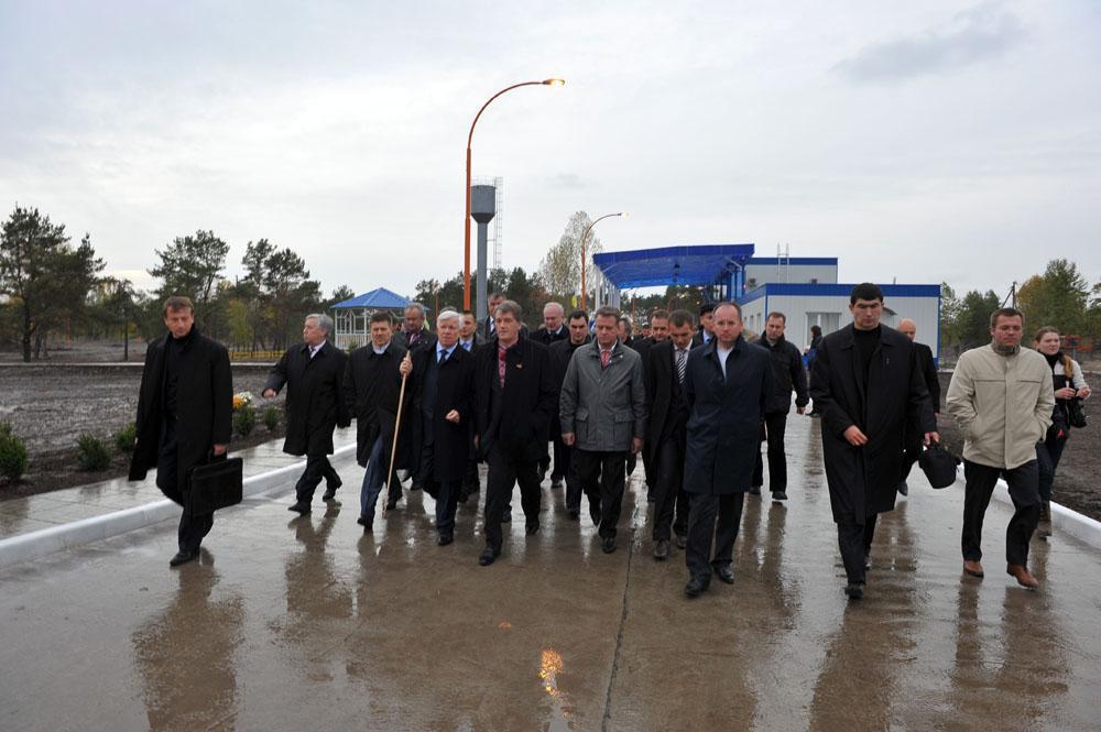 Урочисте відкриття термінала за участі Президента України В.А. Ющенка