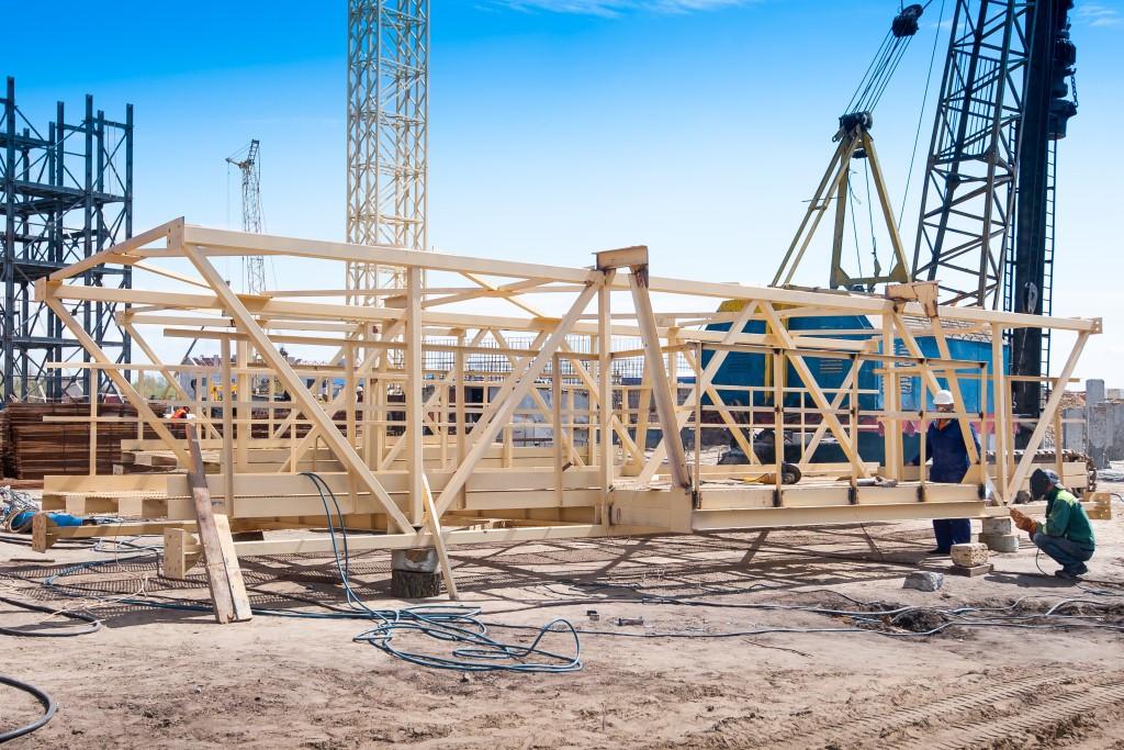 Монтаж металоконструкцій верхніх завантажувальних галерей