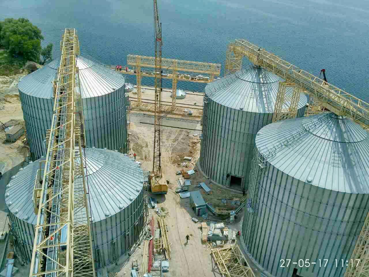 Монтаж ємностей для зберігання зерна  (філія «Хортиця»)