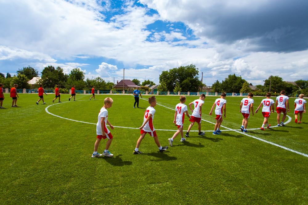 Футбольне поле з натуральним покриттям для Біленківської ЗОШ від компанії