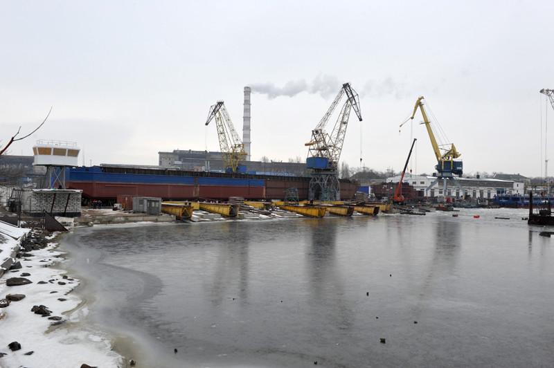 На суднобудівному заводі «НІБУЛОН» завершено будівництво стапельних колій