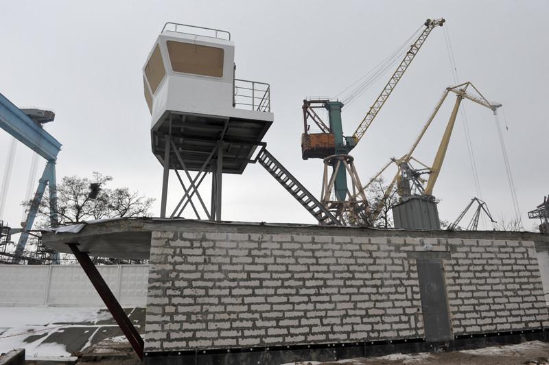 Будівля управління  підйомно-спусковими та стапельними коліями
