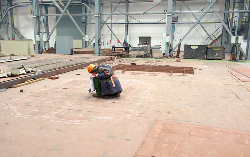 Підготовка місця виготовлення навігаційної рубки буксира Т3500