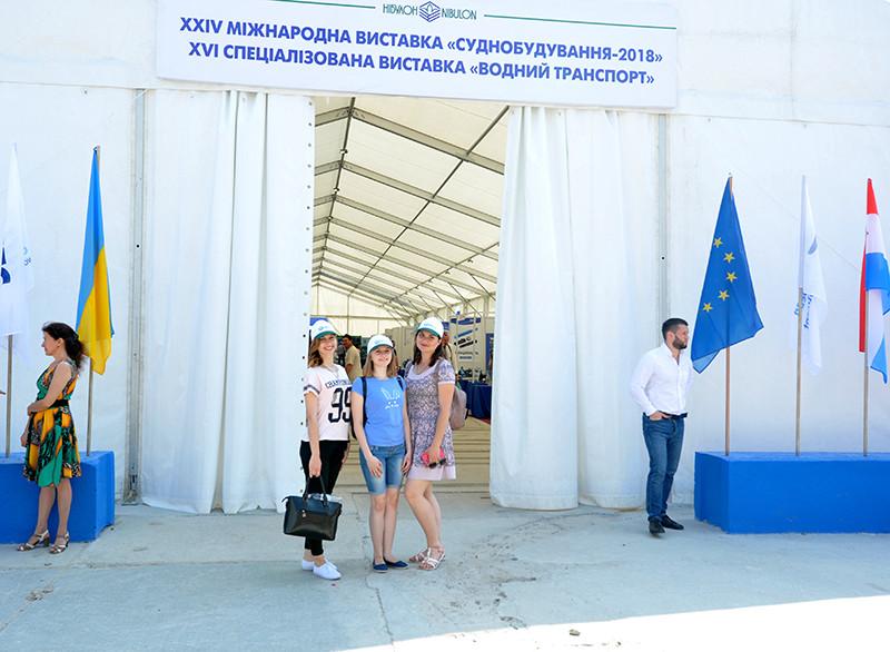 У рамках виставок «Суднобудування-2018» та «Водний транспорт» «НІБУЛОН» організував екскурсії для майже 1000 студентів