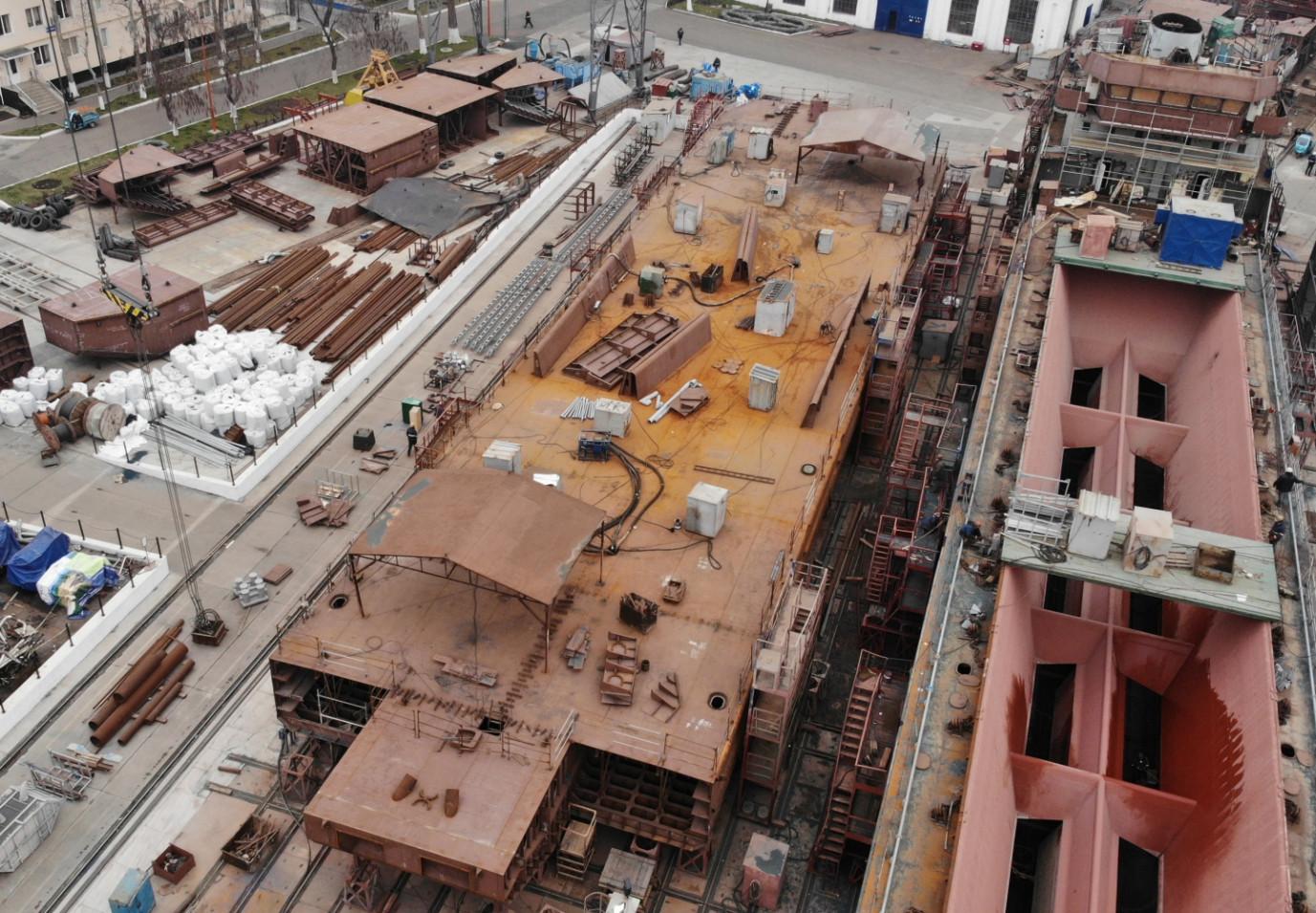 Друге несамохідне судно-майданчик відкритого типу пр. В1500 (зам. 10036)