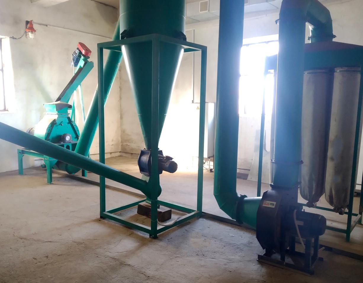 Лінія переробки відходів на енергоносії на підприємстві ТОВ «Колосівський елеватор»
