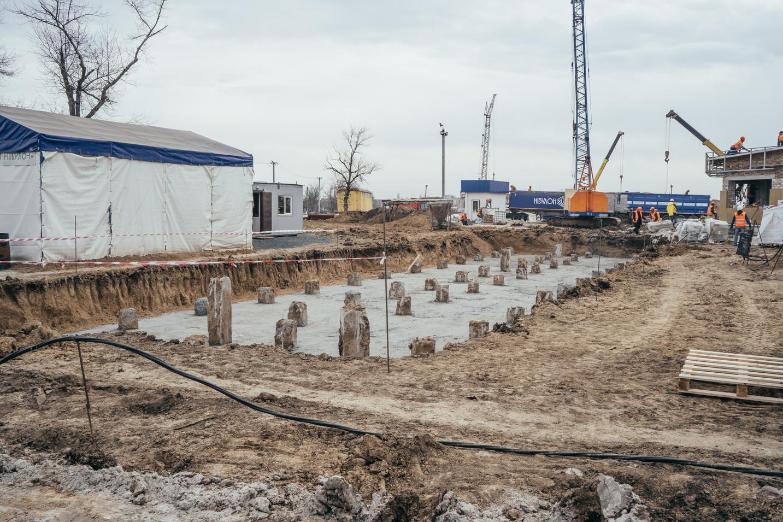 Будівництво операторської  вагового комплексу