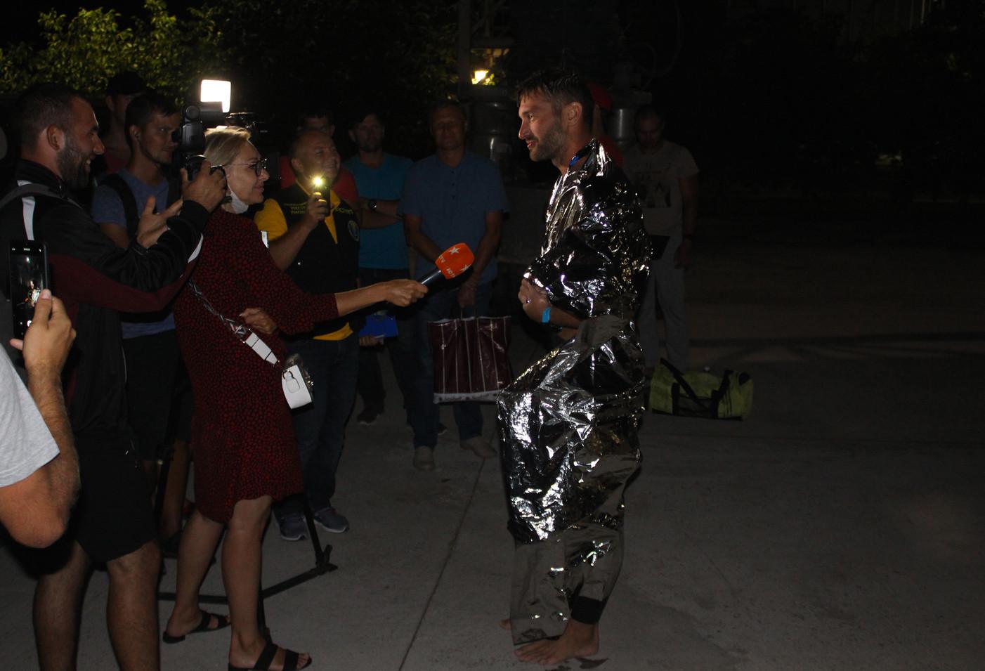 Фініш спортсменів на філії Новоодеська