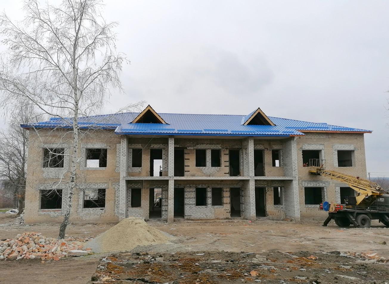 Будівництво у с. Тернівка Вільнянського району Запорізької області