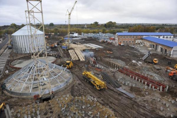 <b>Стан будівництва елеватора філії Тетерів на 14.10.2011</b>