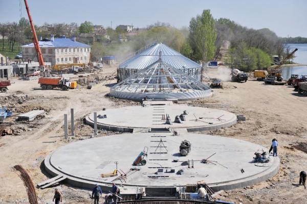 <b>Стан будівництва перевантажувального термінала філії «Козацька» на 27.04.2012</b>