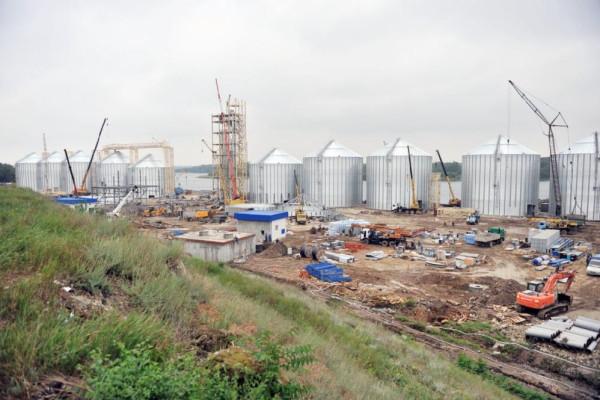 <b>Стан будівництва перевантажувального термінала філії «Козацька» на 25.05.2012</b>