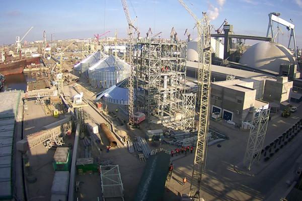 На будівельному майданчику у Миколаєві вже розпочато монтаж обладнання у робочій вежі