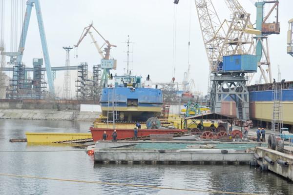 На суднобудівному заводі «НІБУЛОН» готуються до випробувань нових спускових доріжок