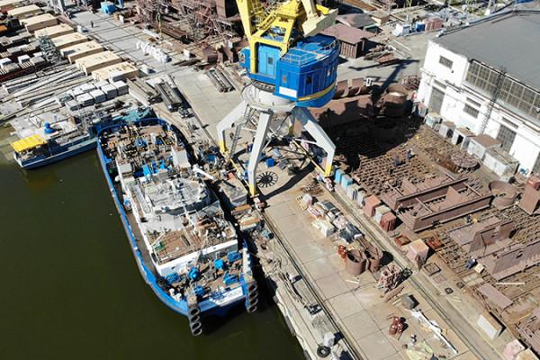 Для будівництва 140-метрового плавкрана «НІБУЛОН» використає близько 5 тис. тонн металопрокату та 150 км кабельної продукції