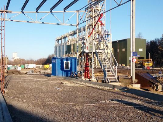 Зведення найбільшого «НІБУЛОНівського» паливозаправного пункту у Хмільнику триває
