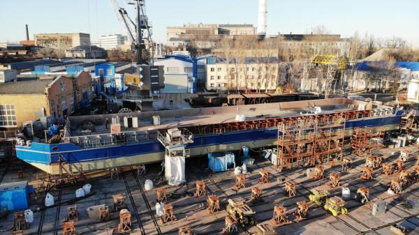 «НІБУЛОН» готує до спуску перше несамохідне судно проєкту В1500