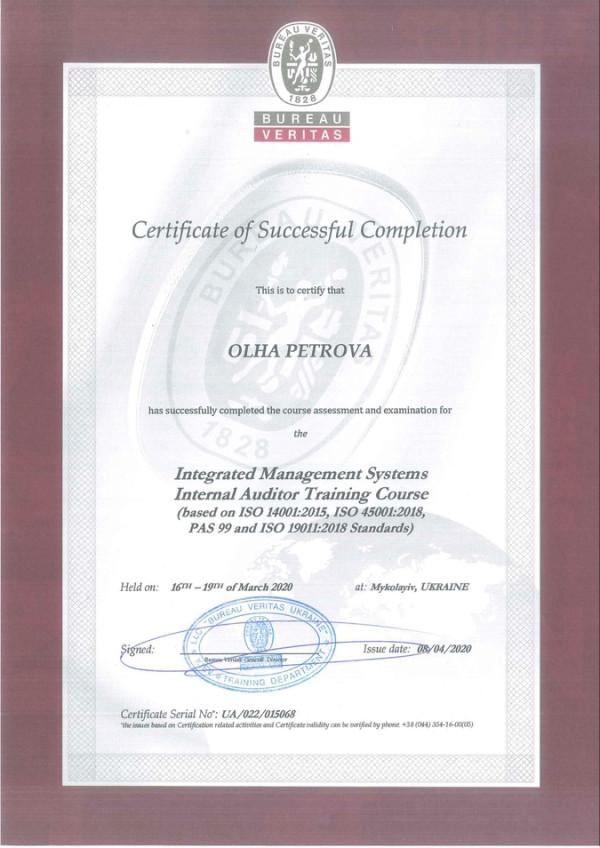 Суднобудівний завод «НІБУЛОН» на шляху до інтегрованої системи менеджменту: 30 фахівців отримали сертифікати внутрішніх аудиторів ІСМ