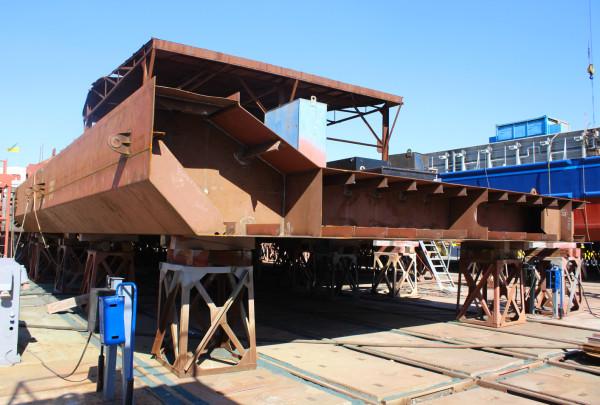 На суднобудівному заводі «НІБУЛОН» почали збирати корпус несамохідного судна проєкту NBL-91