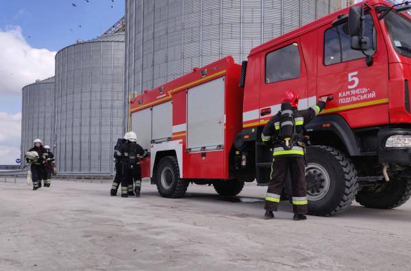 Пожежна команда  філії «Смотрич» пройшла тренування разом із польськими рятувальниками